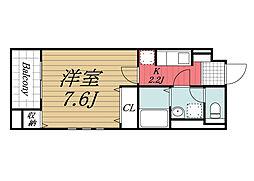 JR総武本線 佐倉駅 徒歩4分の賃貸マンション 1階1Kの間取り