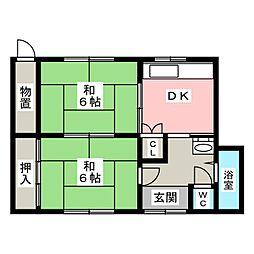 [一戸建] 愛知県春日井市勝川新町3丁目 の賃貸【/】の間取り