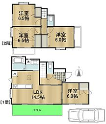 [一戸建] 東京都東村山市萩山町1丁目 の賃貸【/】の間取り