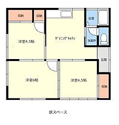 野澤住宅 3DKの間取り