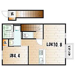 スフェール823 B棟[2階]の間取り