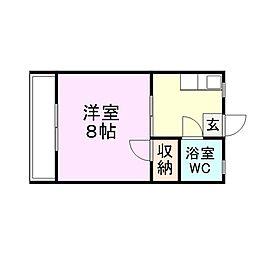 釘宮コーポ[3階]の間取り