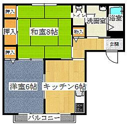 グランドハウス[A201号室]の間取り