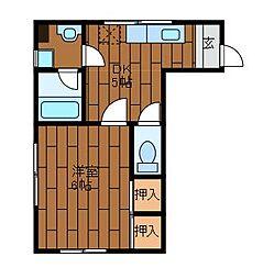 河本ハイツ[3階]の間取り