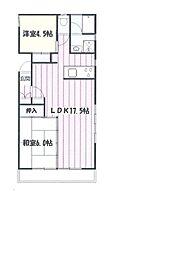 かさまビル7[4階]の間取り
