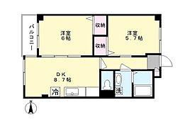 シャトーレ新百合2[4階]の間取り