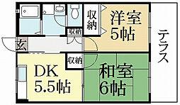 レジデンス銀閣寺[1階]の間取り