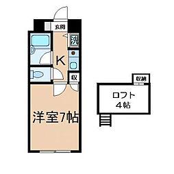 コンドミニアム折尾駅前[1階]の間取り