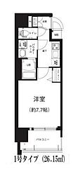 Osaka Metro谷町線 谷町六丁目駅 徒歩8分の賃貸マンション 7階1Kの間取り