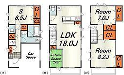 クレイドルガーデン横浜市栄区鍛冶ヶ谷第2 6号棟 3階3SLDKの間取り