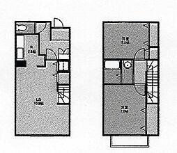 [タウンハウス] 茨城県牛久市ひたち野西3丁目 の賃貸【/】の間取り