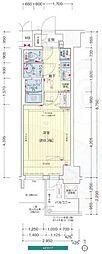 Osaka Metro谷町線 谷町九丁目駅 徒歩2分の賃貸マンション 15階1Kの間取り
