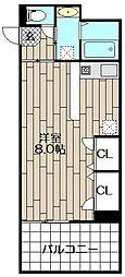 ラフィネス薬院イーストタワー(401)[401号室]の間取り