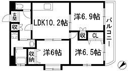 雅マンションパート1[2階]の間取り