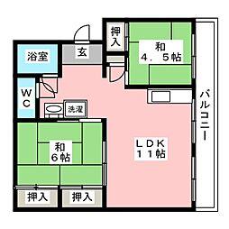 第一松尾ビル[4階]の間取り