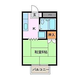 コーポ谷口[1階]の間取り