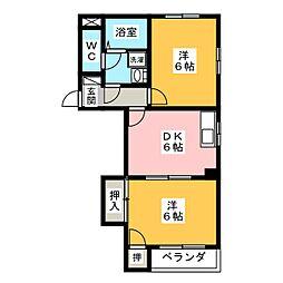 ドエルストークII[2階]の間取り