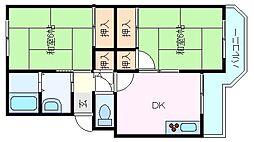 兵庫県神戸市西区王塚台6丁目の賃貸マンションの間取り