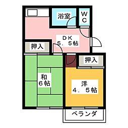 第2宮木ビル[3階]の間取り