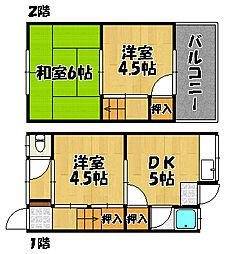 [テラスハウス] 兵庫県明石市松江 の賃貸【/】の間取り