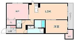 Casa Felice 南桜塚[201号室]の間取り