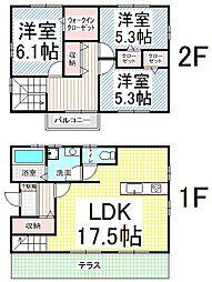 [一戸建] 長野県長野市大字高田中村 の賃貸【/】の間取り
