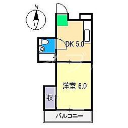 スカイハイツ塚ノ原[1階]の間取り
