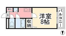 メゾン・ド・エラン[201号室]の間取り