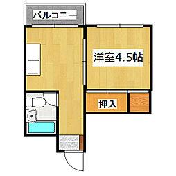 室町マンション[402号室]の間取り