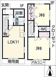 [タウンハウス] 愛知県瀬戸市さつき台2丁目 の賃貸【/】の間取り