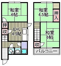 [一戸建] 大阪府泉佐野市葵町2丁目 の賃貸【/】の間取り