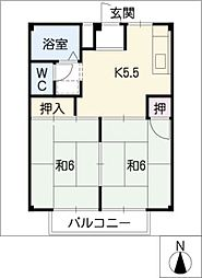 ハイムシンメイ A棟[2階]の間取り