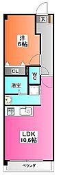 埼玉県川口市元郷2の賃貸マンションの間取り