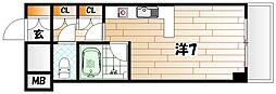 ステーションハイツ八幡[7階]の間取り