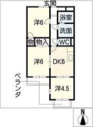 テピカルイブ 3[3階]の間取り
