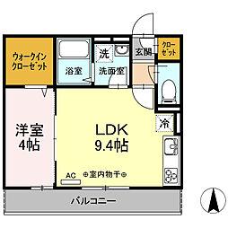(仮)D-room開成町みなみ[2階]の間取り