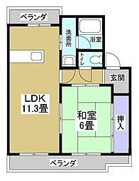 メゾンプレーリーB[2階]の間取り