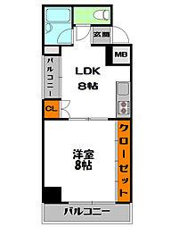 ニューアムザマンション[9階]の間取り