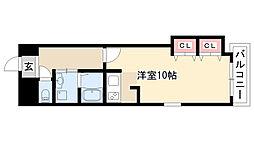 愛知県名古屋市熱田区横田1丁目の賃貸マンションの間取り