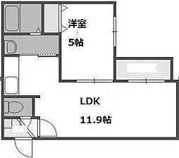 KOKOMO手稲[303号室]の間取り