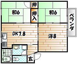 ガーデンシティー御牧A棟[2階]の間取り