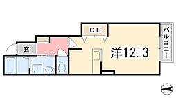 兵庫県姫路市広畑区早瀬町2丁目の賃貸アパートの間取り