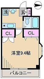 デュエトリオ鵜澤[3階]の間取り