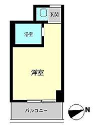東京都港区新橋6丁目の賃貸マンションの間取り