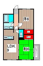 ベルエポックIII[3階]の間取り