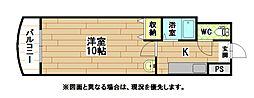 福岡県北九州市八幡東区前田2丁目の賃貸マンションの間取り