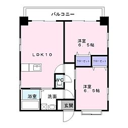 エスステージ箱崎[9階]の間取り