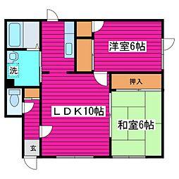 北海道札幌市北区太平八条4丁目の賃貸アパートの間取り