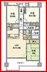 東京都葛飾区東四つ木3丁目の賃貸マンションの間取り