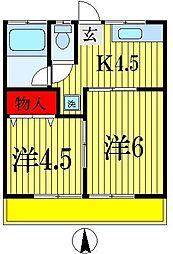 ヤマブンコーポ[1階]の間取り